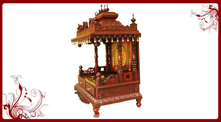 Wooden Temple For Home Designs. Wall Mount Pooja Room Designs In ...